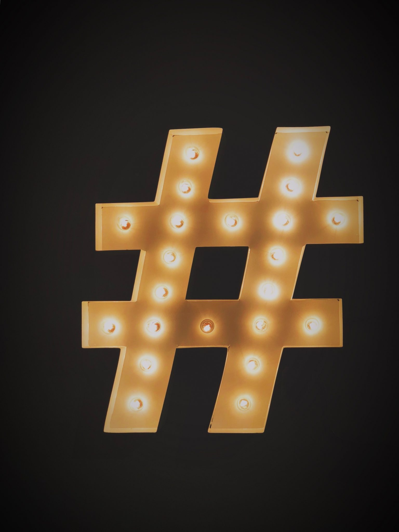 How can hashtags help to boost business success?